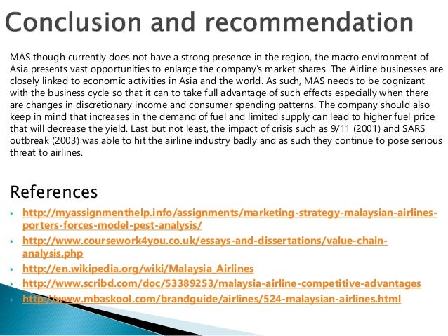 Pest analysis on malaysian airline industry