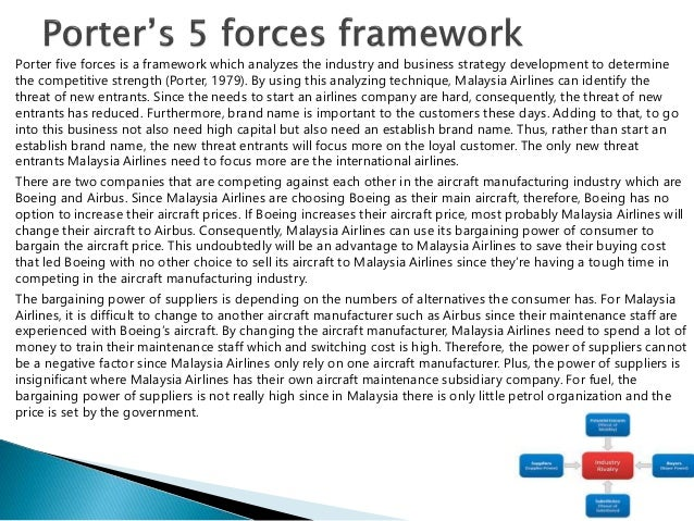 porter s 5 forces in malaysia airline Porters 5 force analysis of the airline industry  after selling off the company's loss-making core fertiliser business,  airline porter 5 forces.