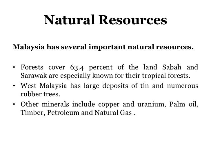 Malaysia Natural Resources