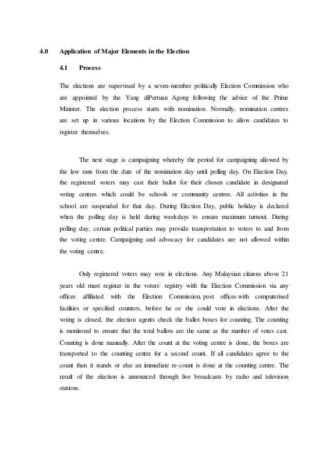malaysian election process Malaysian election process 1 topic: malaysian election process name: mohamed abdi mohamed id: 09111500008 intake: july subject: malaysian studies.