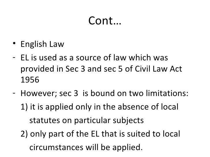 explain the sources of malaysian legal The body of law that governs the legal relations between or among states or nations to qualify as a subject under the traditional definition of international law, a state had to be sovereign: it needed a territory, a population, a government, and the ability to engage in diplomatic or foreign .