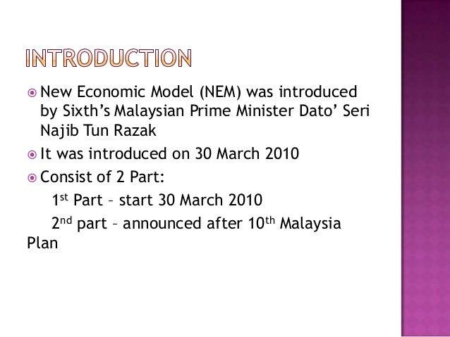 Summary of New Economic Model
