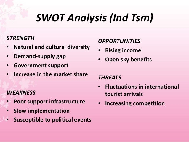 india tourism swot analysis Swot analysis swot examples swot templates  here is the pestle analysis of india, which will provide you with a detailed analysis of the four significant factors .
