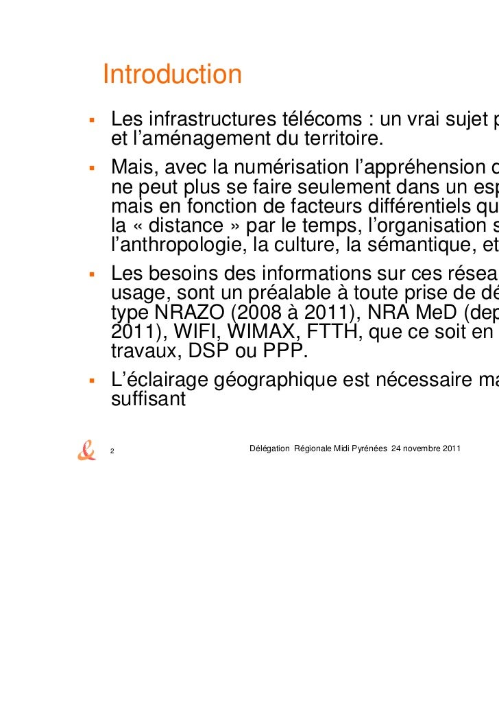 Table ronde: Information géographique et THD - L'offre de données cartographiques de France Télécom-Orange Slide 2
