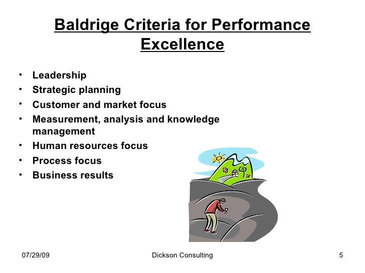 Baldrige Framework and Value System