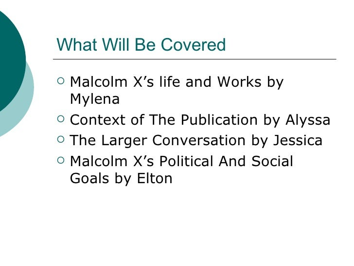 Thesis statement for malcolm x learning to read