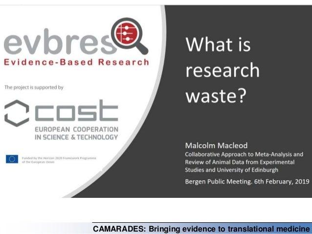 CAMARADES: Bringing evidence to translational medicine