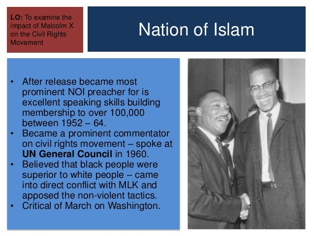An examination of malcolm xs role in the civil rights movement