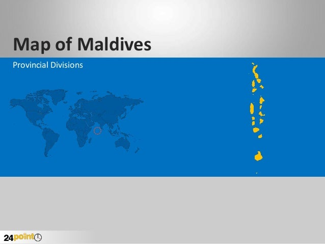 Map of Maldives Provincial Divisions