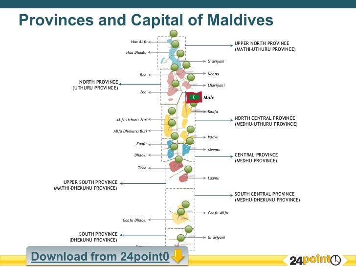 Editable Map of Maldives