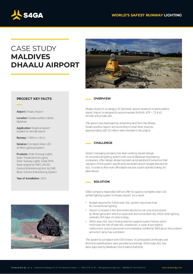 Solar Airfield Lighting for Dhaalu Airport, Maldives