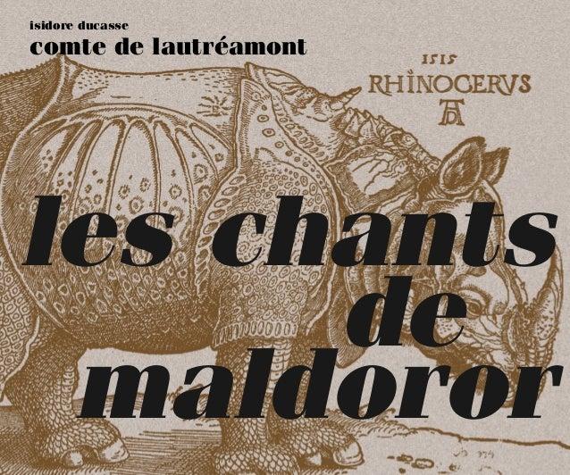 isidore ducasse comte de lautréamont les chants de maldoror