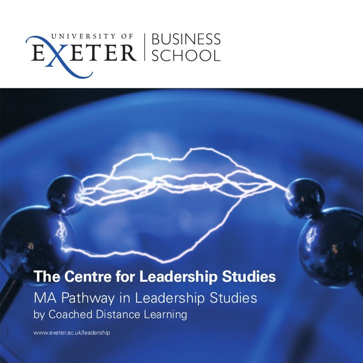 The Centre for Leadership Studies       MA Pathway in Leadership Studies       by Coached Distance Learning0409       www....