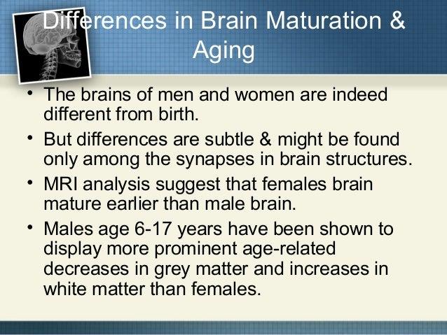 Are men or women more mature