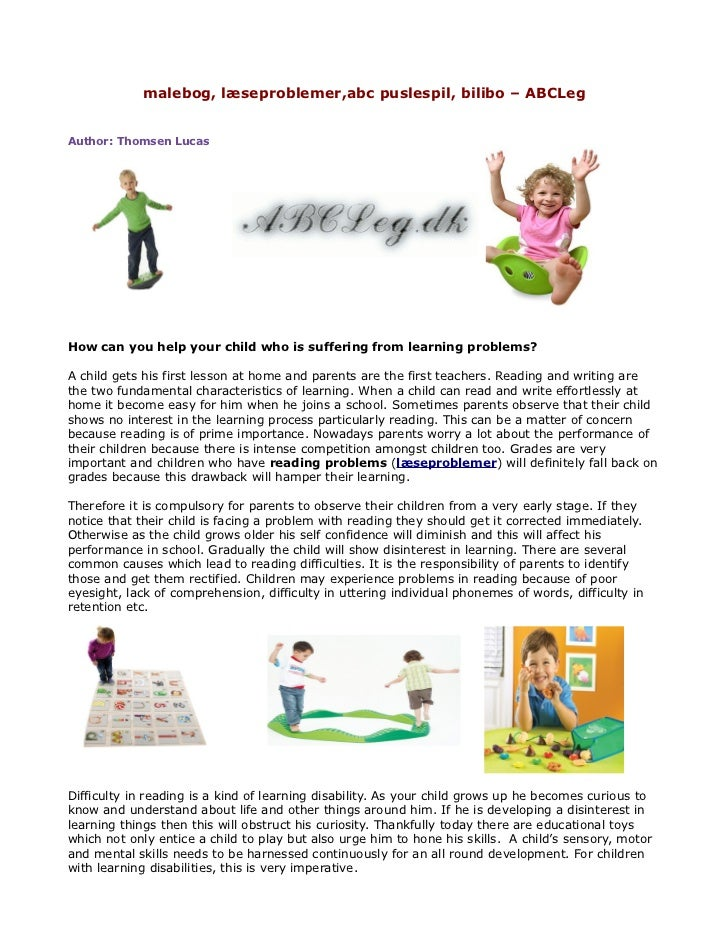 malebog, læseproblemer,abc puslespil, bilibo – ABCLegAuthor: Thomsen LucasHow can you help your child who is suffering fro...