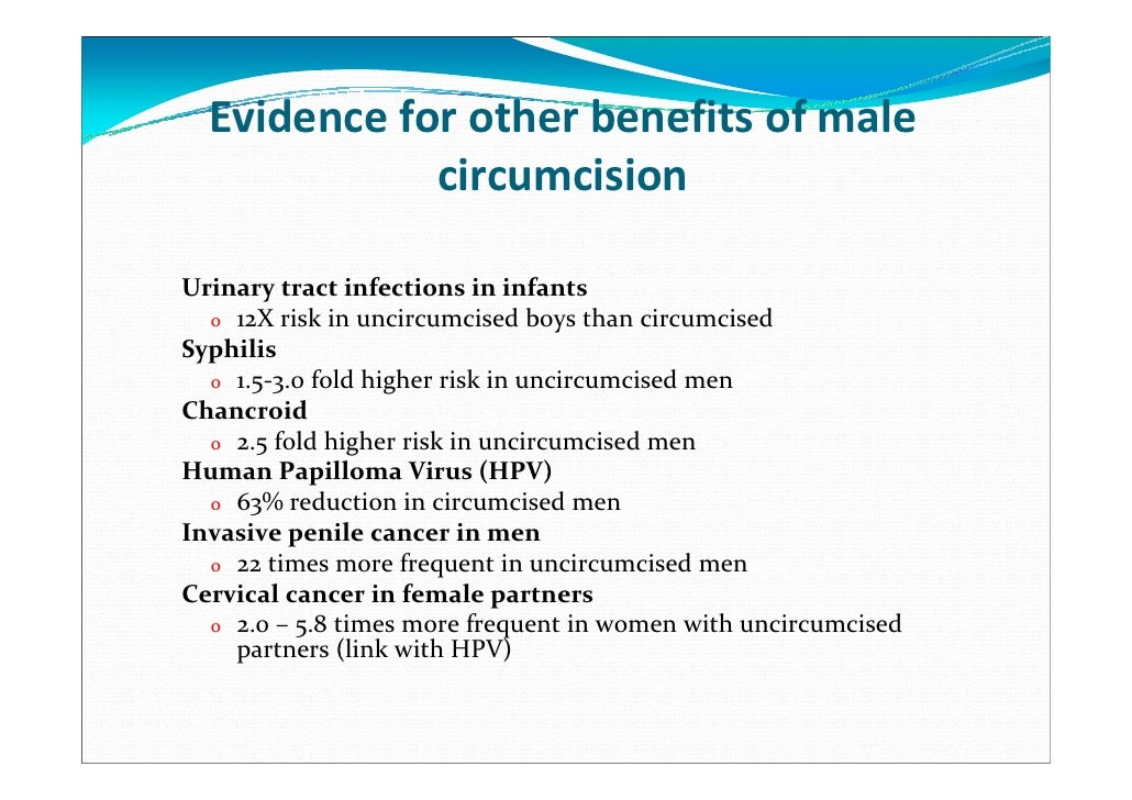 benefits of male circumcision to a woman