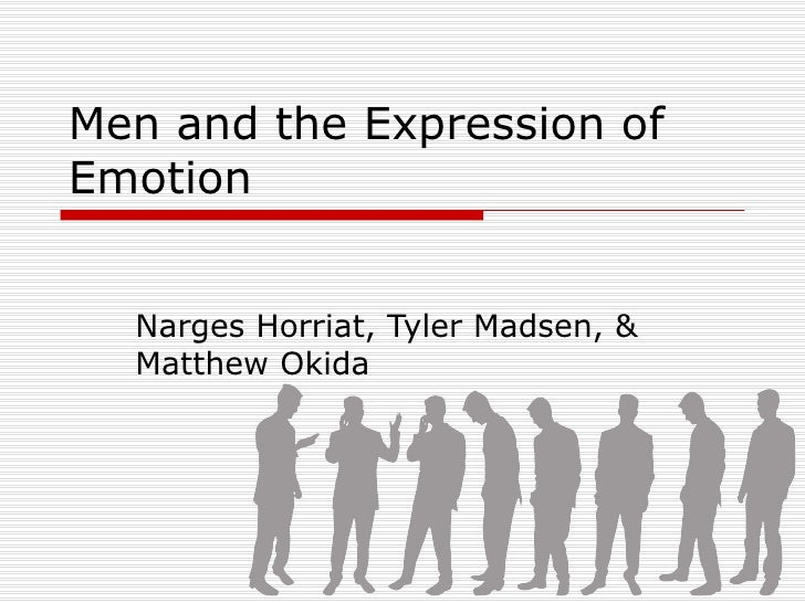 Men and affection: The examination of gender roles and