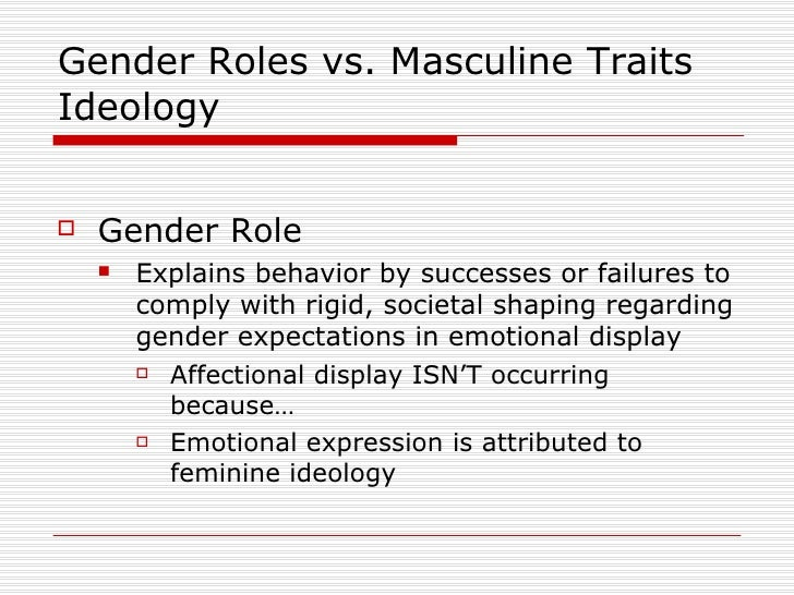 factors affecting gender roles The gender roles and responsibilities of these girls and women in the  looking  for these openings to influence gender socialization during.