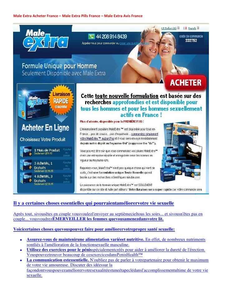 Male Extra Acheter France – Male Extra Pills France – Male Extra Avis FranceIl y a certaines choses essentielles qui pourr...