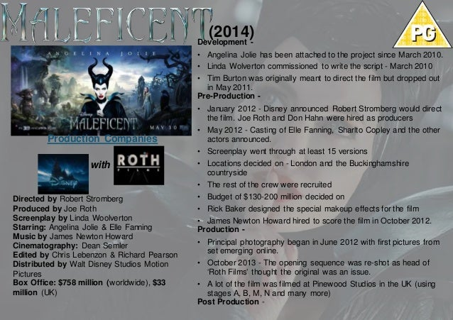 Maleficent 2014 Case Study