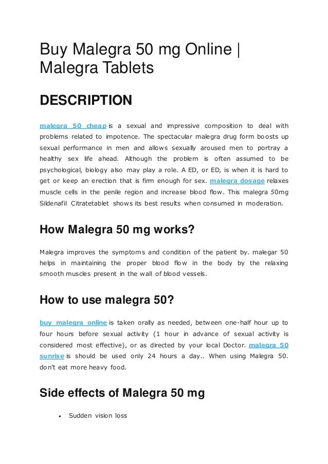 Malegra 50 Mg Online