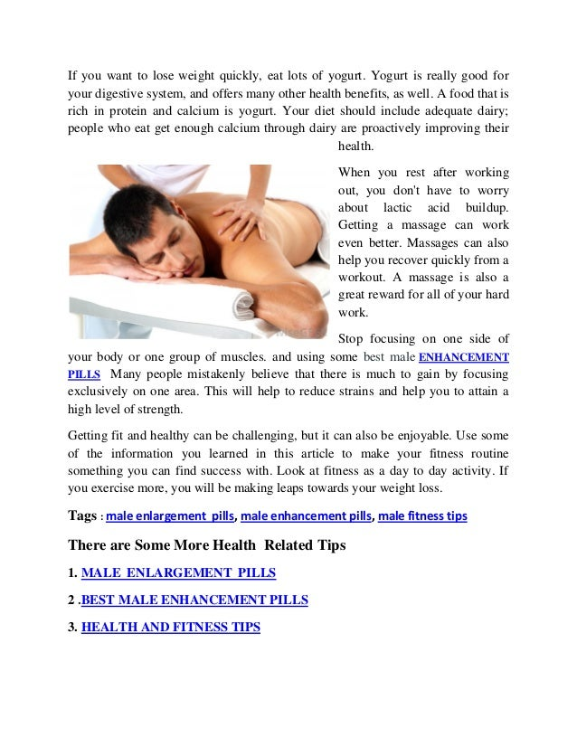 Male Health Fitness Tips