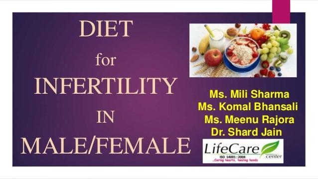DIET for INFERTILITY IN MALE/FEMALE Ms. Mili Sharma Ms. Komal Bhansali Ms. Meenu Rajora Dr. Shard Jain