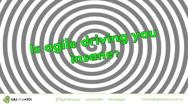 malene@agileofcourse.co.zaAgileOfCourse ! MaleneMBJ ! #AndyAgile