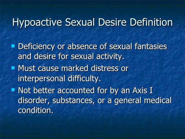 Desire hypoactive in man sexual