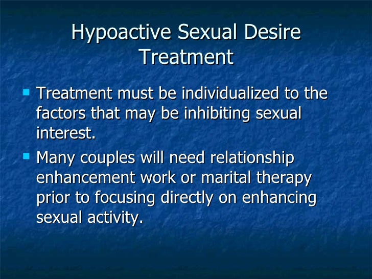Hypoactive sexual desire disorder causes