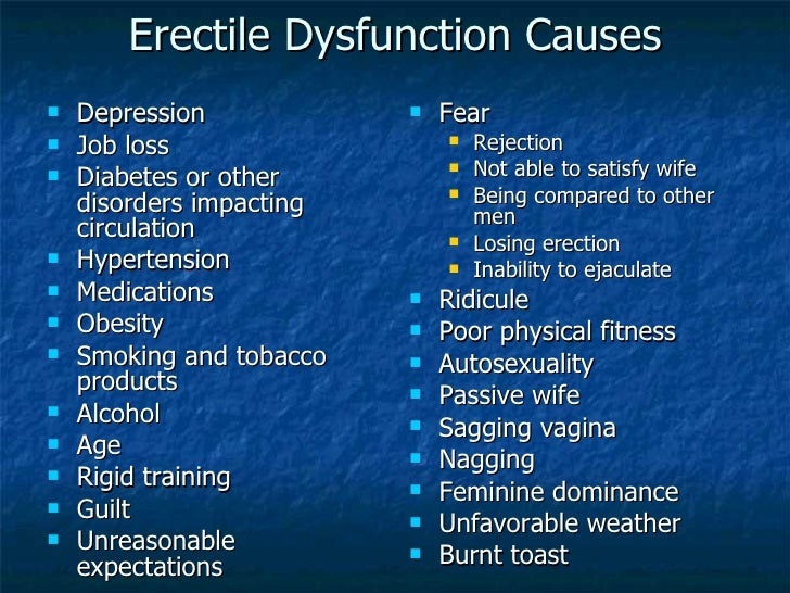 Erectile dysfunction sexual dysfunction