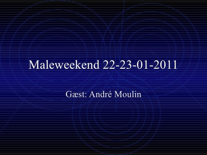 Maleweekend 22-23-01-2011 Gæst: André Moulin