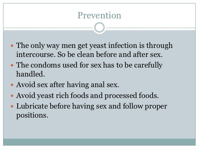 male yeast infection after sex