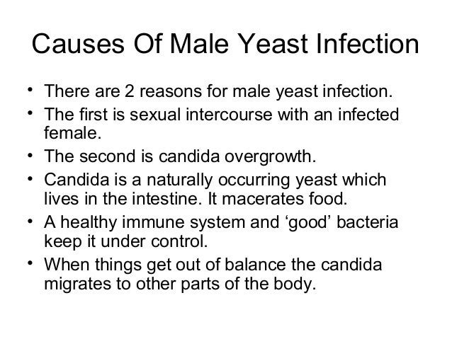 male yeast infection causes