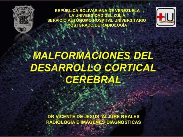 REPÚBLICA BOLIVARIANA DE VENEZUELA          LA UNIVERSIDAD DEL ZULIASERVICIO AUTÓNOMO HOSPITAL UNIVERSITARIO         POSTG...
