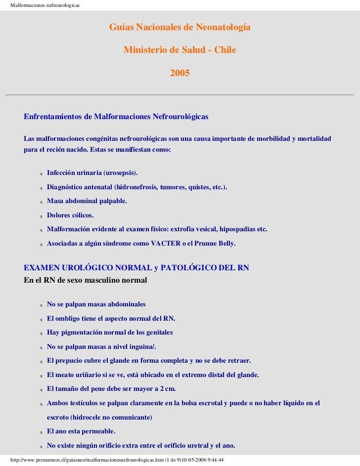 Malformaciones nefrourologicas                                           Guías Nacionales de Neonatología                 ...