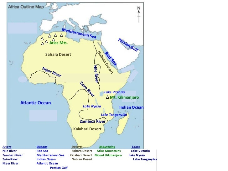 Kingdoms Of Ancient West Africa - Important rivers in africa