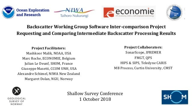 Backscatter Working Group Software Inter-comparison Project Requesting and Comparing Intermediate Backscatter Processing R...