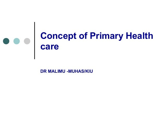 Malimu primary health care.