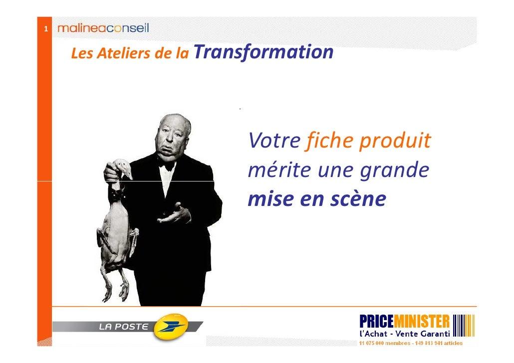 1       Les Ateliers de la Transformation                               Votre fiche produit                           méri...