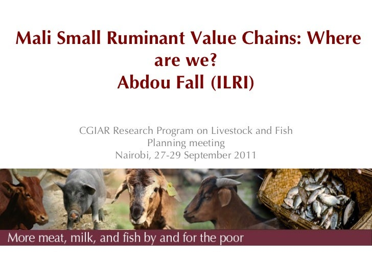 Mali Small Ruminant Value Chains: Where                are we?            Abdou Fall (ILRI)       CGIAR Research Program o...
