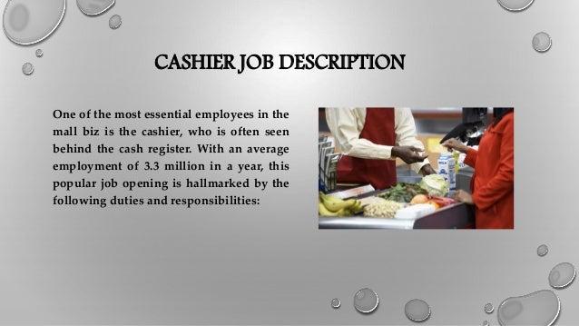 CASHIER JOB DESCRIPTION ...