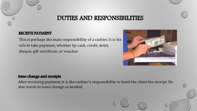 DUTIES AND RESPONSIBILITIES ...