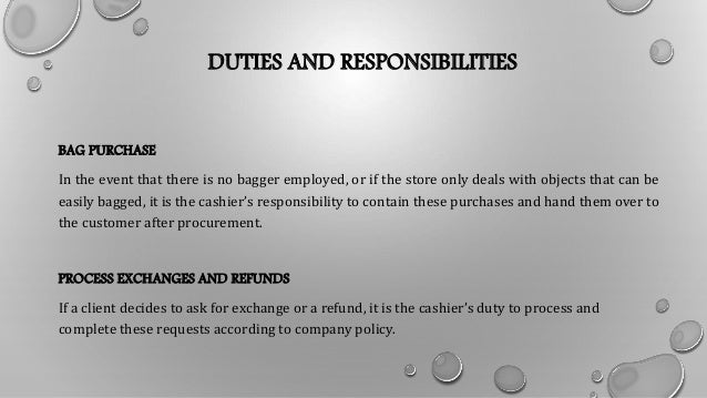Cashier Job Description
