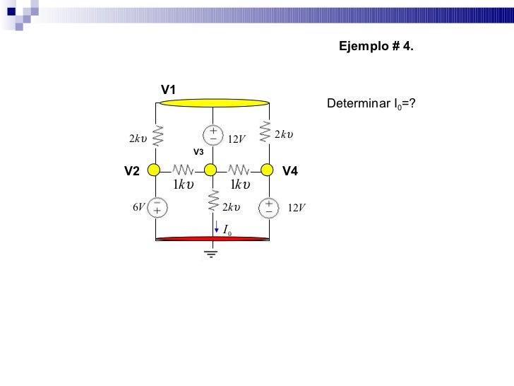 Ejemplo # 4.          V1                                   Determinar I0=?                            2 kυ 2 kυ           ...