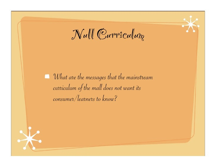 null curriculum