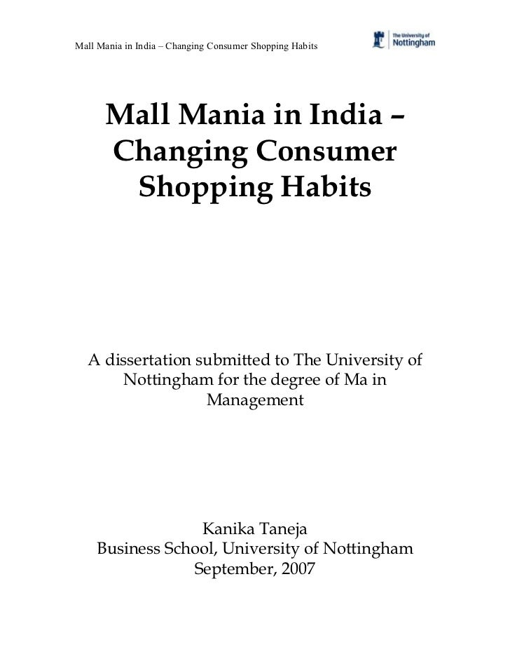 Mall Mania in India – Changing Consumer Shopping Habits      Mall Mania in India –      Changing Consumer       Shopping H...