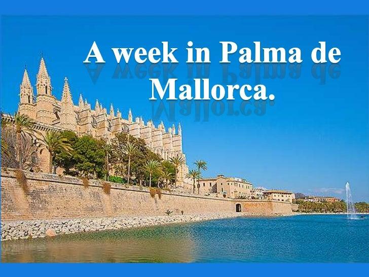 A week in Palma de Mallorca.<br />