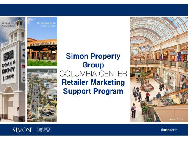 Simon Property     GroupRetailer MarketingSupport Program
