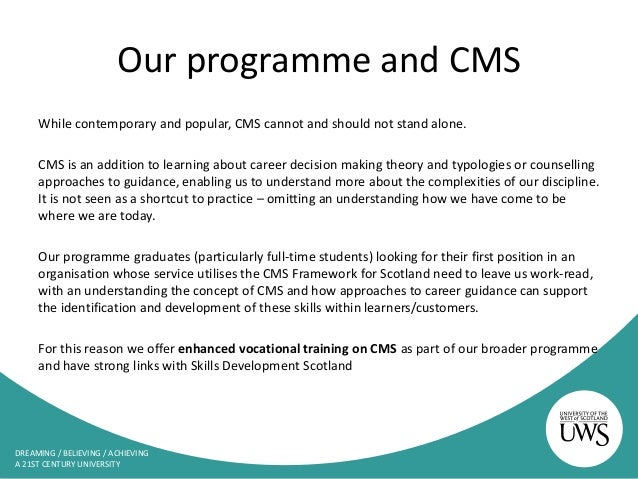 Cms the blueprint framework for career learning in scotland 19 malvernweather Gallery